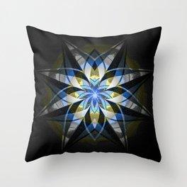 Textured Anasazi Star Mandala Throw Pillow