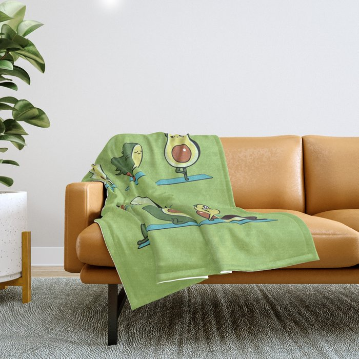 Avocado Yoga Throw Blanket