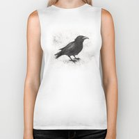 justin timberlake Biker Tanks featuring Crow by Puddingshades