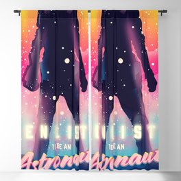 Enlist to be an Astronaut Blackout Curtain
