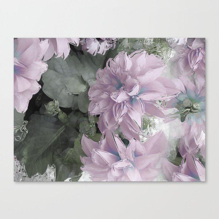 Pastel Dahlia's Canvas Print