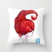 scorpio Throw Pillows featuring Scorpio by Aloke Design