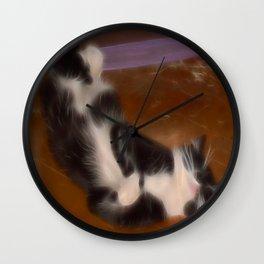Cute sleeping kitty Wall Clock