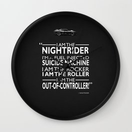 Mad Max - I Am The Nightrider Wall Clock