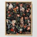 Cat and Floral Pattern II by burcukorkmazyurek