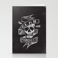 valar morghulis Stationery Cards featuring all men must die by Matthew Taylor Wilson