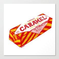 Caramel Wafer pen drawing Canvas Print