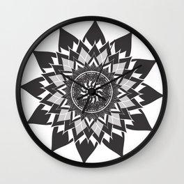 mandala flower lotus Wall Clock