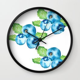Watercolour Blueberry Wall Clock