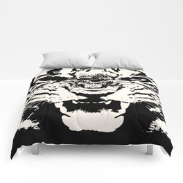 White Tiger Vector Comforters