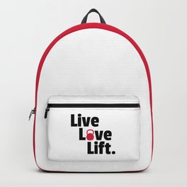 Live, Love, Lift Gym Quote Backpack