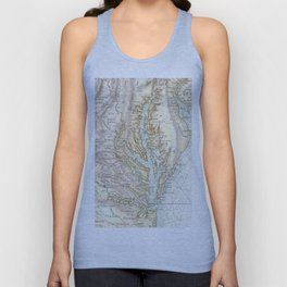 Vintage Map of The Chesapeake Bay(1778) 2 Unisex Tank Top