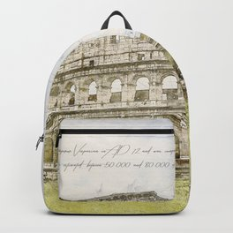 Colosseum, Rome Italy Backpack