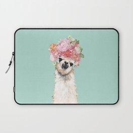Llama with Flowers Crown #3 Laptop Sleeve