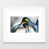 penguins Framed Art Prints featuring Penguins by James Peart