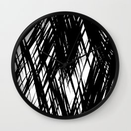 Zebra cross strokes Wall Clock