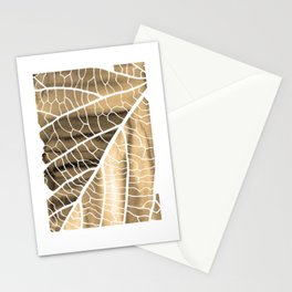 Fragmented 02 sepia Stationery Cards