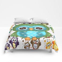 CUTE PLAYFUL OWL Comforters