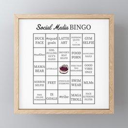 Social Media Buzzword Bingo Card Framed Mini Art Print