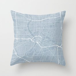 Rochester Map, USA - Slate Throw Pillow