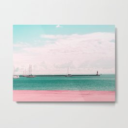 Pink and Blue Sailing Metal Print