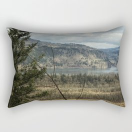 Columbia Gorge View from the Trail Rectangular Pillow