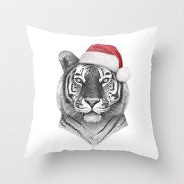Christmas Tiger Throw Pillow