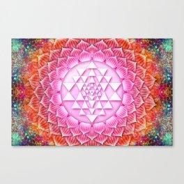 Sri Yantra Lotus I Canvas Print