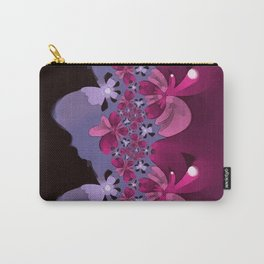 Amorphous Floral (smooth) Carry-All Pouch