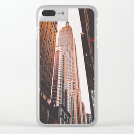 New York 16 Clear iPhone Case