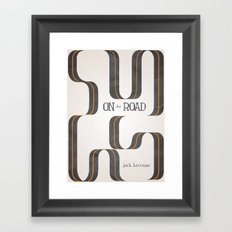 On The Road by Jack Kerouac Framed Art Print