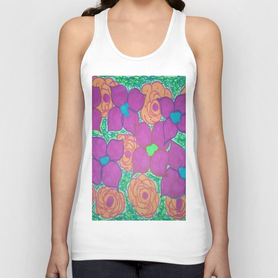 Bold Summer Flowers Unisex Tank Top