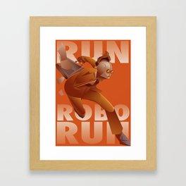 RUN ROBO RUN Framed Art Print