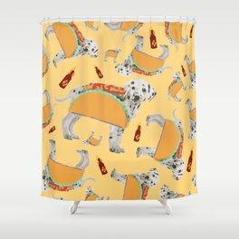Taco Dog Shower Curtain