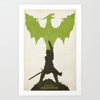 dragon age inquisition Art Prints featuring Dragon Age: Inquisition V2 by FelixT