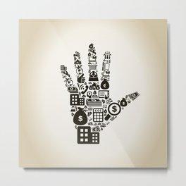 Business a hand2 Metal Print
