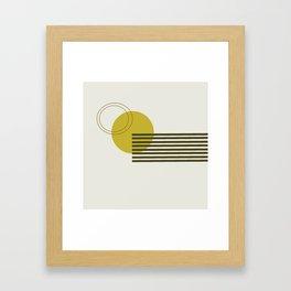 Minimalist Circle Framed Art Print