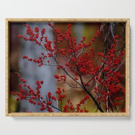 Deciduous Holly Berries Serving Tray