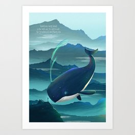Wondering Whale Art Print