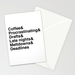 Deadlines Helvetica Stationery Cards