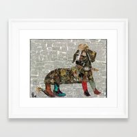 woody Framed Art Prints featuring Woody by Becky Shelton
