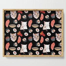 sushi cats Serving Tray