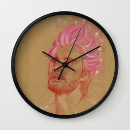 Fantasy in Pink Wall Clock