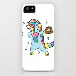 dab on them, dab dance, dab, unicorn baseball dabbin unicorn rainbow iPhone Case