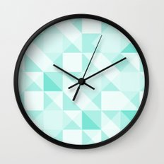 All Turquoise Triangle Pattern Wall Clock