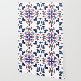 Floral ornament. Watercolor Wallpaper