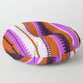 Rust and Purple Indian Blanket Design Floor Pillow