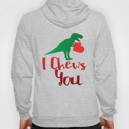 I Chews You Valentines Day Dinosaur Hoody