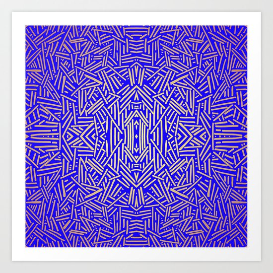 Radiate (Yellow/Ochre Royal) Art Print