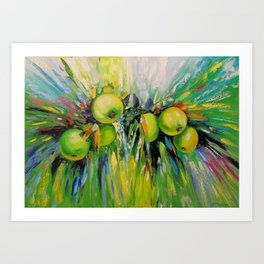Juicy apples Art Print